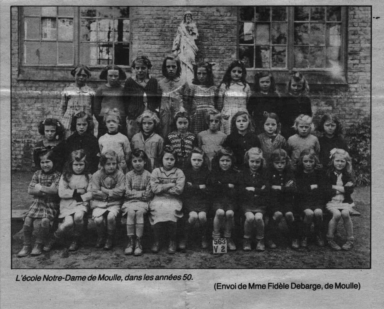 MOULLE Ecole Notre Dame années 50