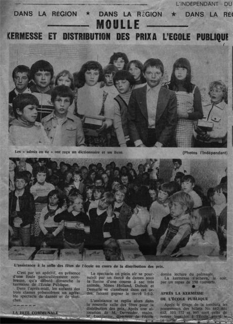 MOULLE Kermesse juin 1978