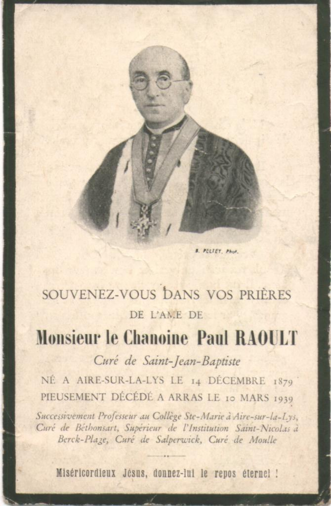 MOULLE L' ABBÉ RAOULT