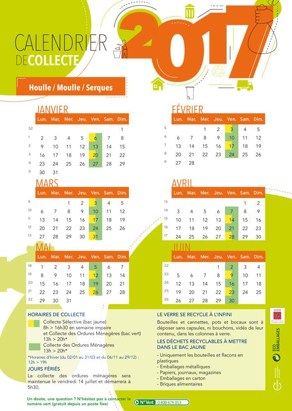 Calendrier houlle moulle serques 1