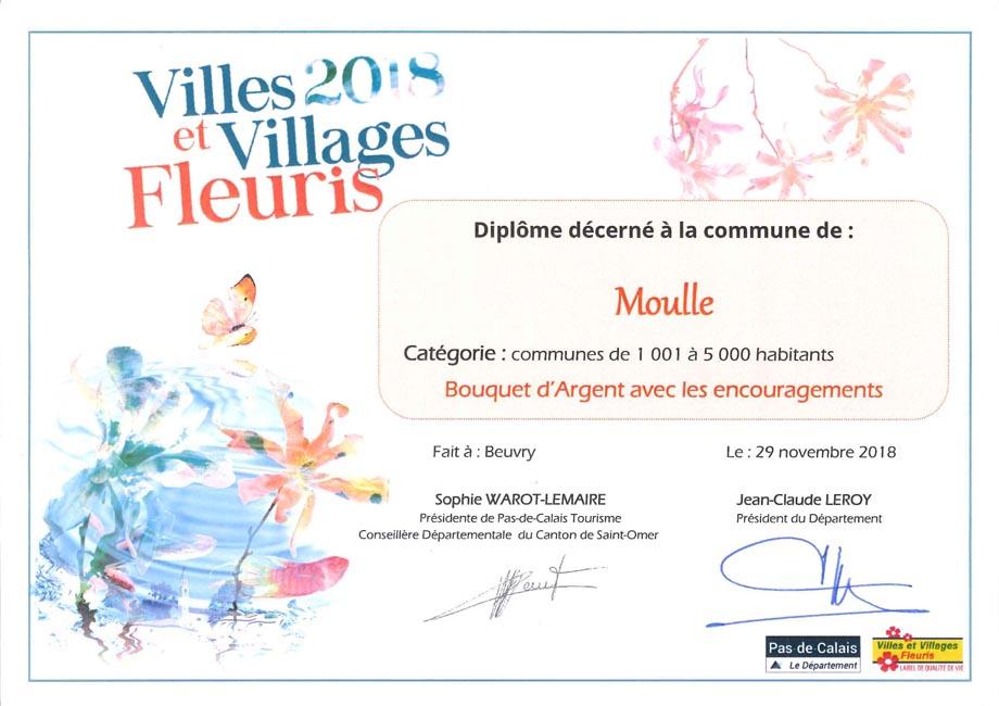 Diplome moulle village fleuri 2018