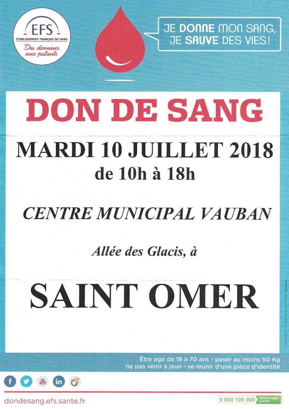 Don de sang 10 juillet
