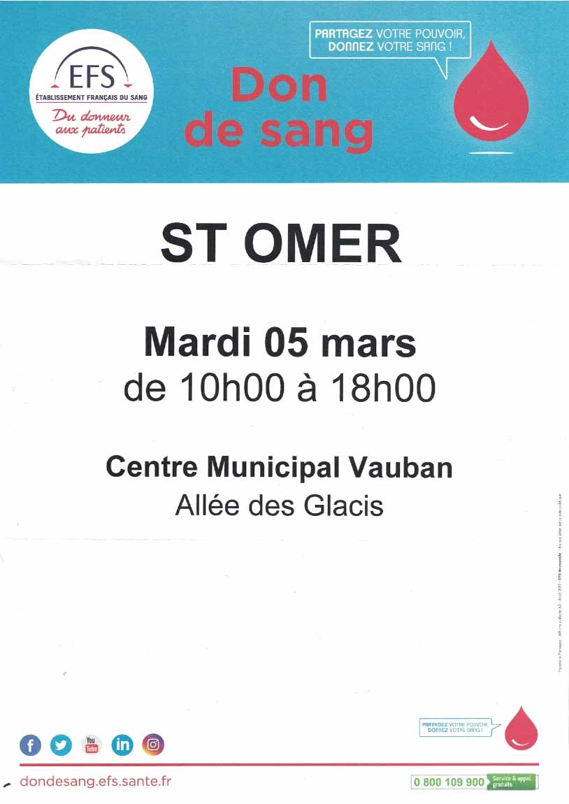 Don de sang saint omer 1
