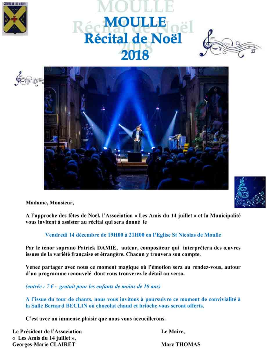 Invitation recital noel 2018 recto