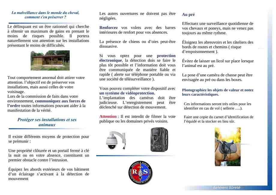 Plaquette prevention centres equestres 2